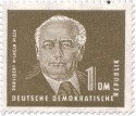 Briefmarke: Wilhelm Pieck 1 DM
