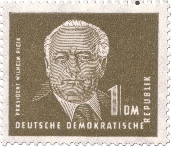 Briefmarke: Wilhelm Pieck 1 DM