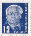 Briefmarke: Wilhelm Pieck Portrait