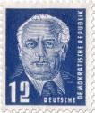 Briefmarke: Wilhelm Pieck Portrait