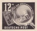 Briefmarke: Debria 1949 - Ein Kreuzer und Lupe