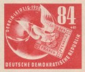 Briefmarke: Debria 1950 - Globus und Taube