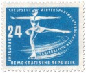Briefmarke: Eiskunstläuferin (Schierke 1950)