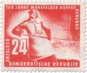 Briefmarke: Giesser Hochofen Mansfelder Kupferbergbau