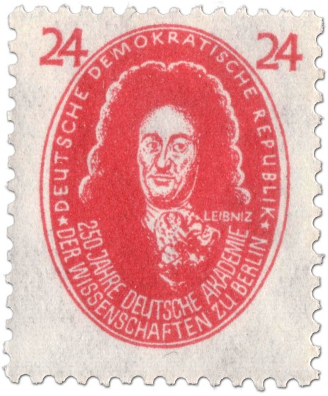 Briefmarke: Gottfried Wilhelm Leibniz