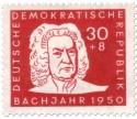 Briefmarke: Johann Sebastian Bach (Bachjahr 1950)