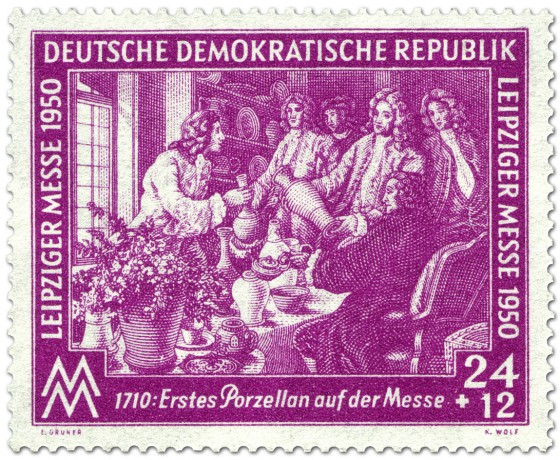 Briefmarke: Meissener Porzellan auf Ostermesse