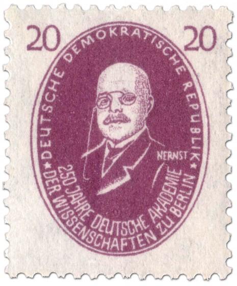 Briefmarke: Walter Nernst (Chemiker)