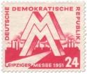 Briefmarke DDR: Leipziger Messe 1951