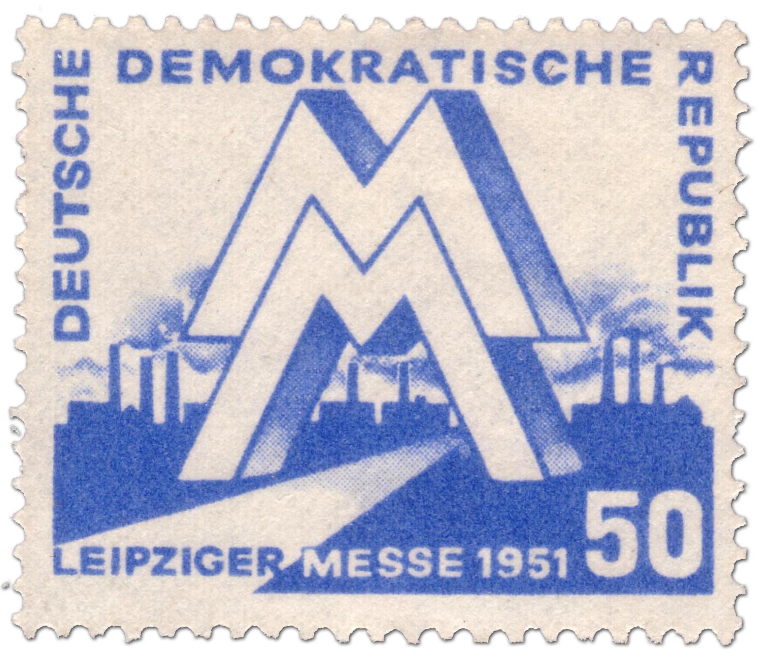 Ddr Briefmarke Leipziger Messe 1951 Briefmarke 1951