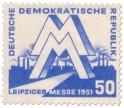 DDR - Briefmarke: Leipziger Messe 1951