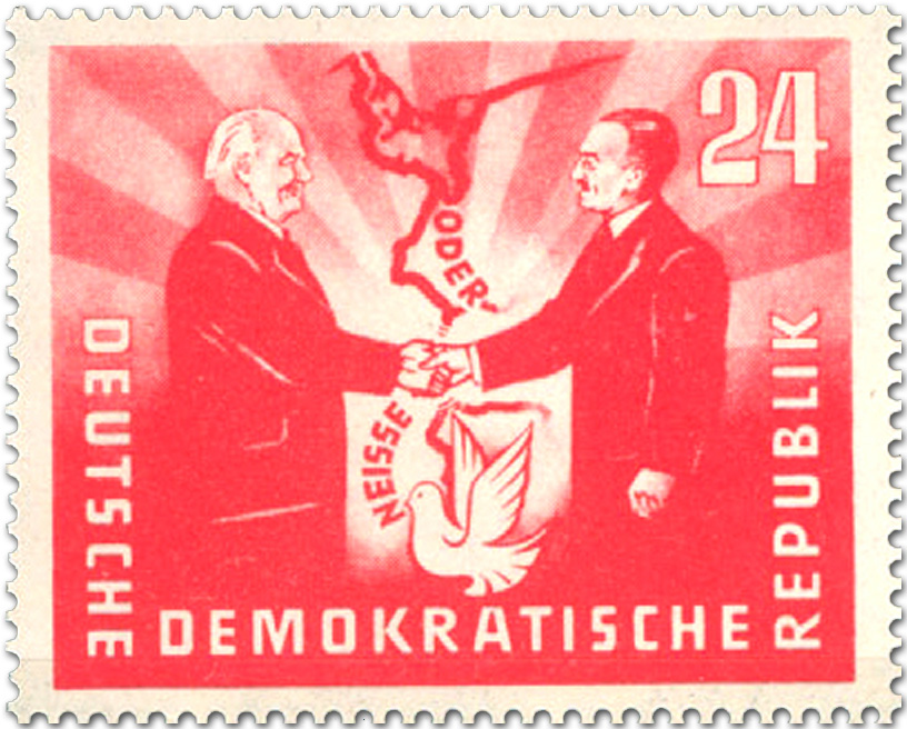 Deutsch Polnische Freundschaft Briefmarke 1951