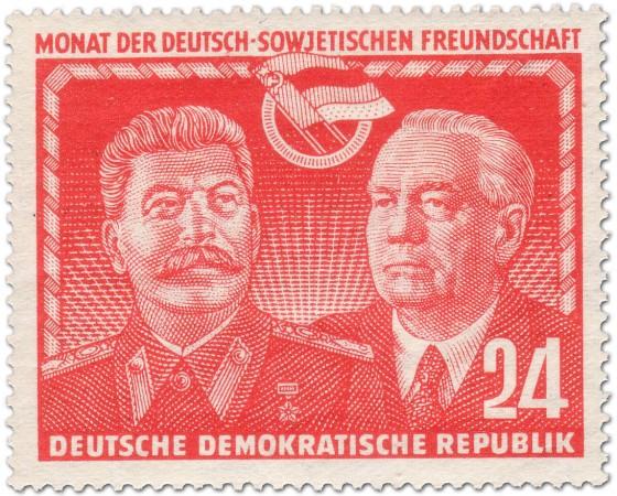 Briefmarke: Josef Stalin - Wilhelm Pieck