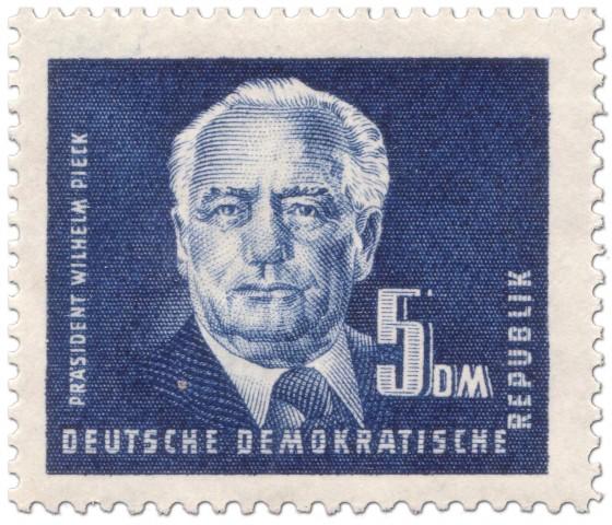 Briefmarke: 5 DM Wilhelm Pieck (Politiker)