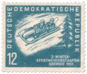 Briefmarke: Zweierbob Meisterschaft Oberhof 1951