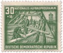Briefmarke: Dachdecker (Aufbauprogramm Berlin)