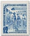 Briefmarke: Friedensfahrt 1952 (Radrennen)