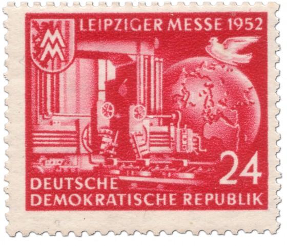 Briefmarke: Leiziger Herbstmesse 1952 (rot)