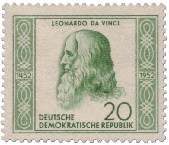 Briefmarke: Leonardo da Vinci (Universalgelehrter, Künstler)