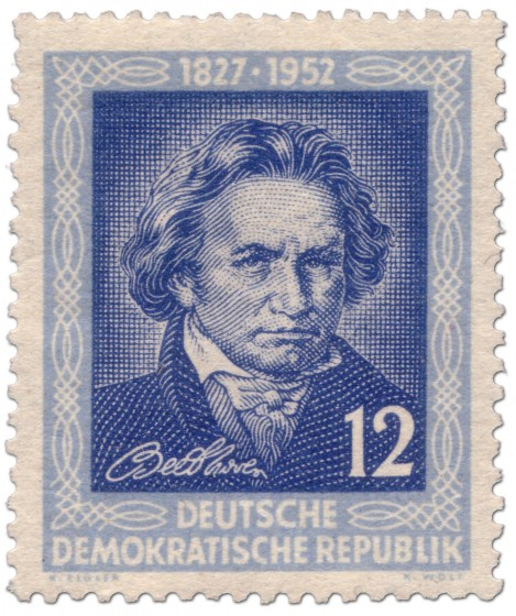 Briefmarke: 125. Todestag von Ludwig van Beethoven