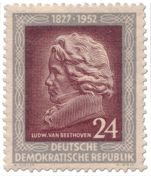 Briefmarke: Ludwig van Beethoven im Profil