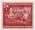 Briefmarke: Rohbau-Mauern (DDR Aufbauprogramm)
