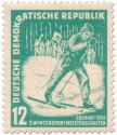 Briefmarke: Skilangläufer - Oberhof 1952
