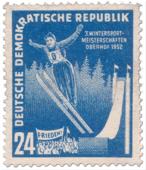 Briefmarke: Skisprung Oberhof 1952