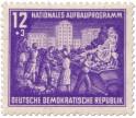 Briefmarke: Stalinallee Schuttabbau Aufbauprogramm