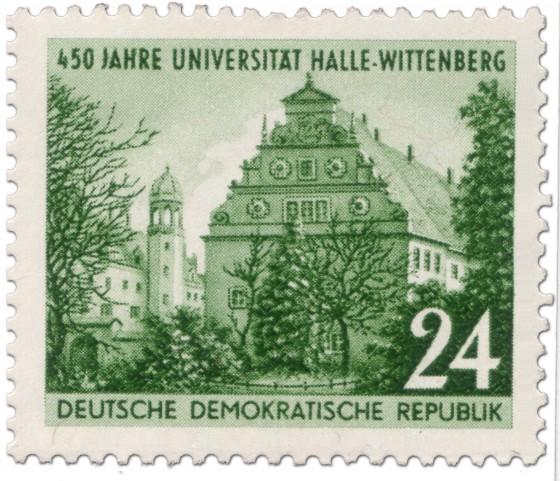 Briefmarke: 450 Jahre Universität Wittenberg
