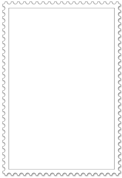 Briefmarke Vorlage mit Zacken
