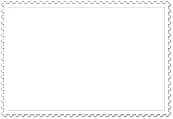 Briefmarke Vorlage - Querformat