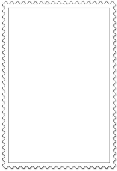 Malvorlage für Briefmarke - Hochformat