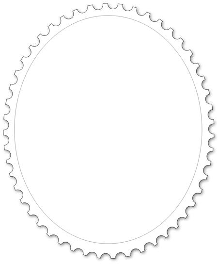 Malvorlage für Briefmarke - Dreieckiges Format
