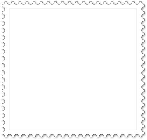 Malvorlage für Briefmarke - Quadrat